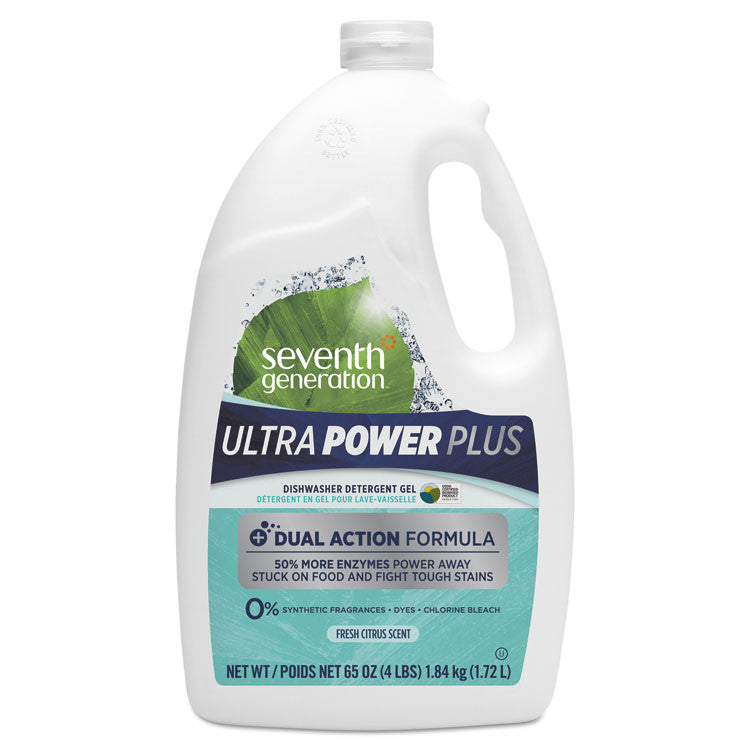 Natural Automatic Dishwasher Gel, Ultra Power Plus, Fresh Scent, 65 Oz Bottle