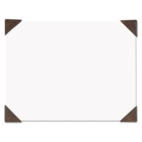 100% Recycled Doodle Desk Pad, Unruled, 50 Sheets, Refillable, 22 X 17, Brown