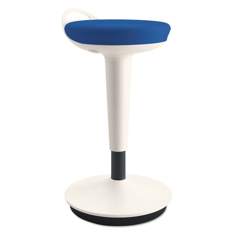 Balance Perch Stool, Blue With White Base
