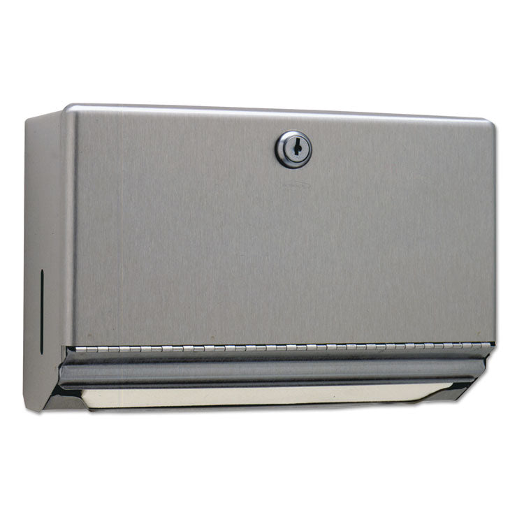 Surface-Mounted Paper Towel Dispenser, Stainless Steel, 10 3/4 X 4 X 7 1/16