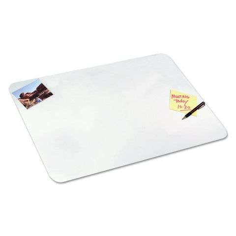 Clear Desk Pad With Microban, 19 X 24, Plastic