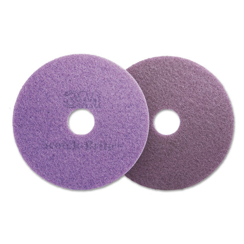 "Diamond Floor Pads, 19"" Diameter, Purple, 5/carton"