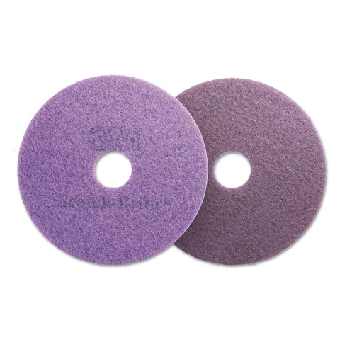 "Diamond Floor Pads, 16"" Diameter, Purple, 5/carton"