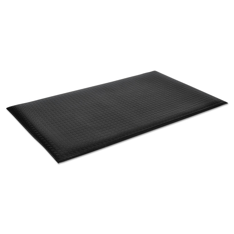 Wear-Bond Comfort-King Anti-Fatigue Mat, Diamond Emboss, 36 X 120, Black