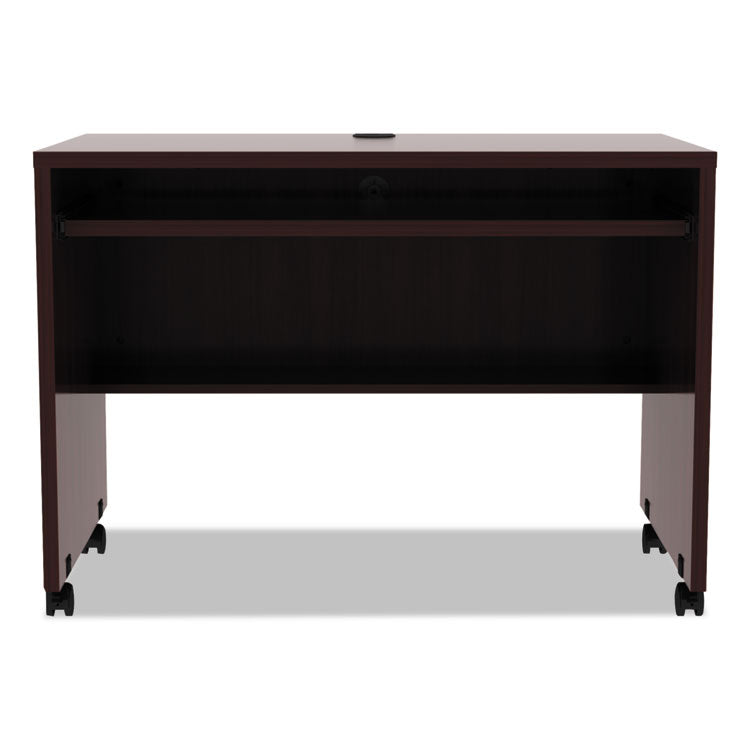 Alera Valencia Mobile Workstation Desk, 41 3/8 X 23 5/8 X 29 5/8, Mahogany