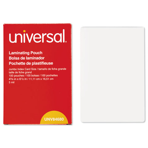 Clear Laminating Pouches, 5 Mil, 4 3/8 X 6 1/2, Photo Size, 100/box