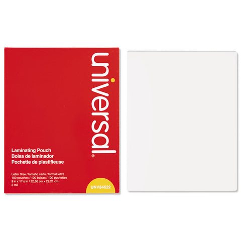 Clear Laminating Pouches, 3 Mil, 9 X 11 1/2, 100/box