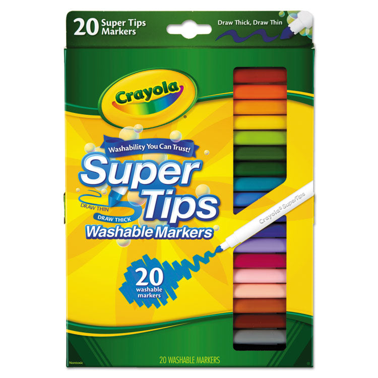 Washable Super Tips Markers, Assorted, 20/set
