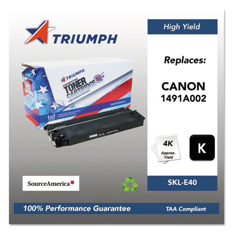 751000nsh0135 Remanufactured 1491a002aa (e40) High-Yield Toner, Black