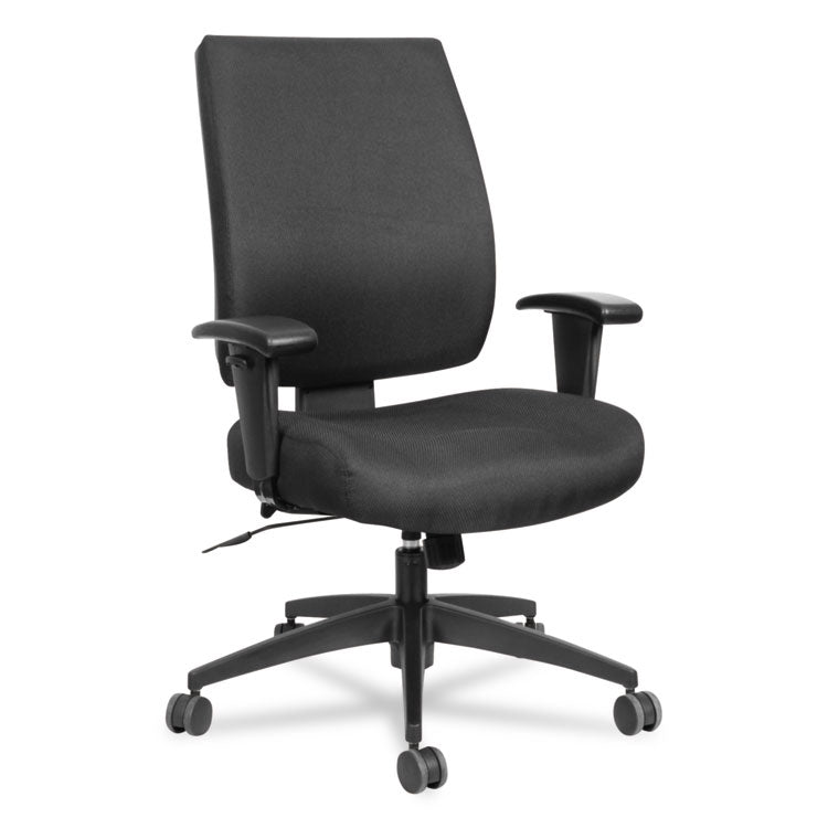 Alera Wrigley Series High Performance Mid-Back Synchro-Tilt Task Chair, Black