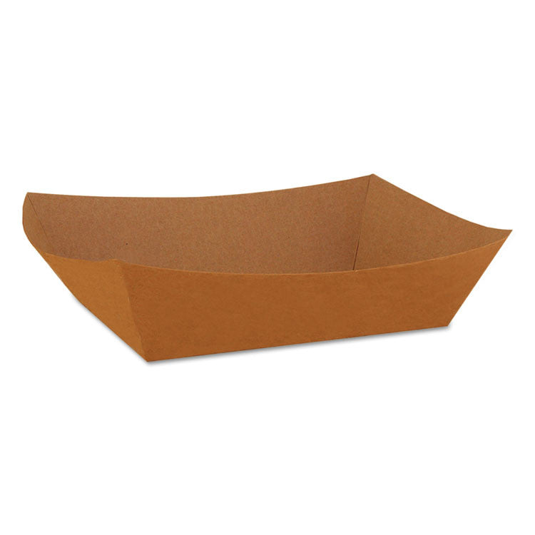 Food Trays, Paperboard, Brown/white Check, 3-Lb Capacity, 500/carton