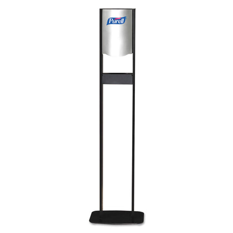 Elite Tfx Floor Stand Dispenser Station, F/1200ml Refills, Chrome/black, 2/crtn