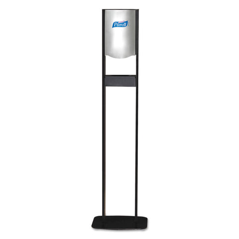 Elite Ltx Floor Stand Dispenser Station, For 1200ml Refills, Chrome/black