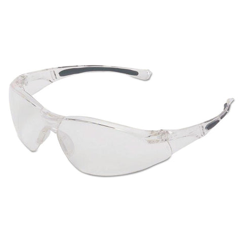A800 Series Safety Eyewear, Clear Frame, Clear Lens
