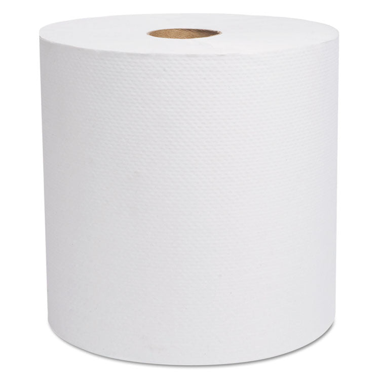 "Decor Hardwound Roll Towels, White, 7 7/8"" X 800', 6/carton"