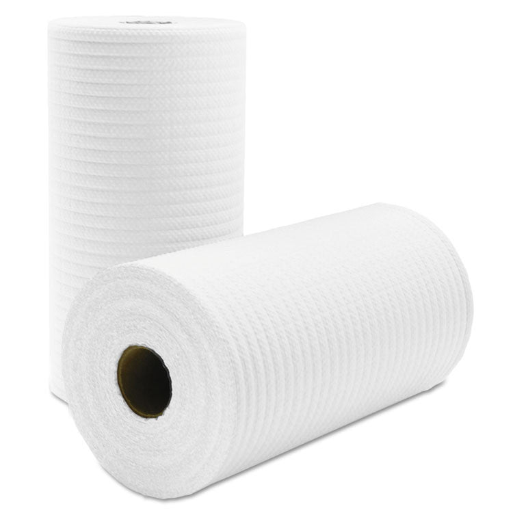 Tuff-Job Scrim Reinforced Wipers, 9 3/4 X 275 Ft, White, 6 Rolls/carton