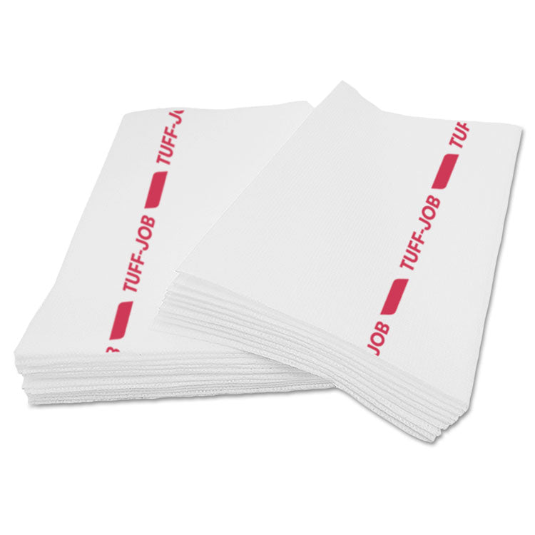 Busboy Guard Antimicrobial Towels, White/red, 12 X 24, 20/pack, 12 Packs/carton