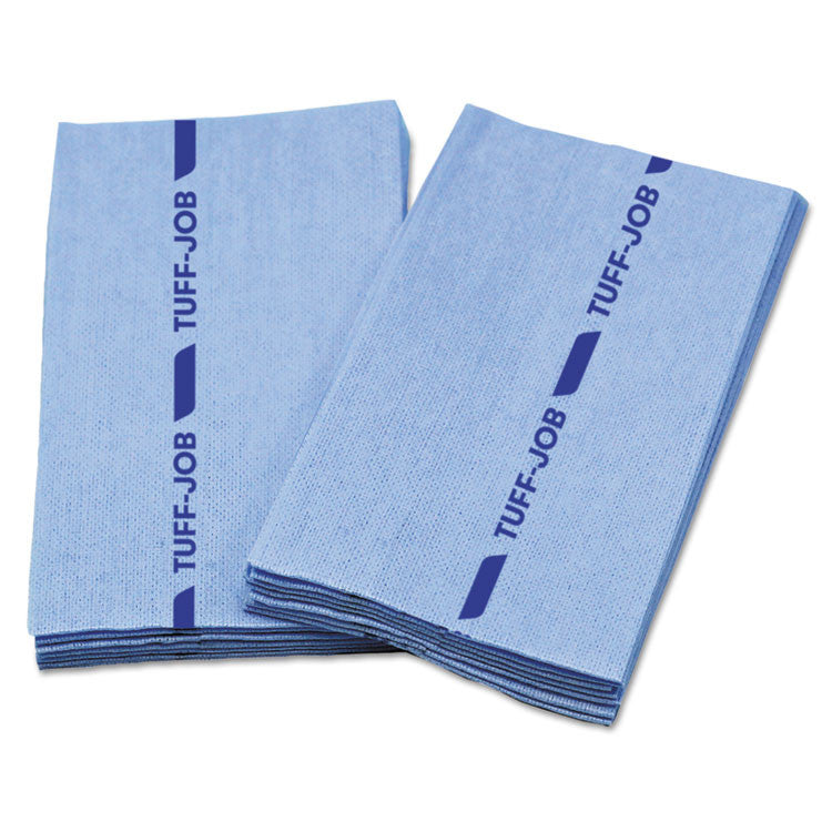 Busboy Guard Antimicrobial Foodservice Towels, Blue, 12 X 24, 1/4 Fold, 150/ctn