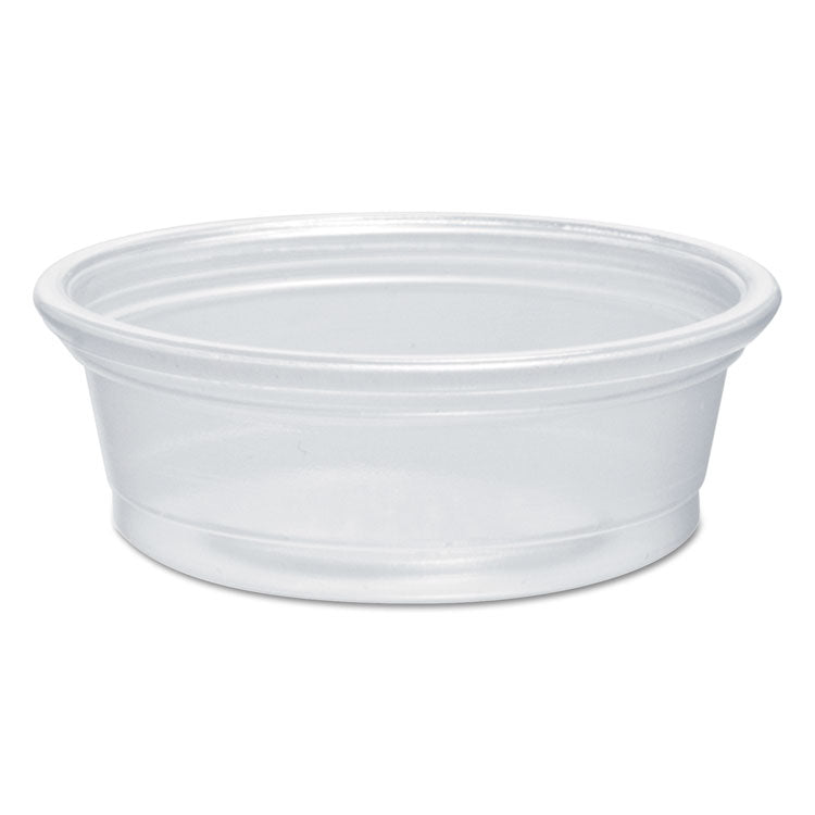 Plastic Souffle Portion Cups, 1/2 Oz., Translucent, 2500/carton