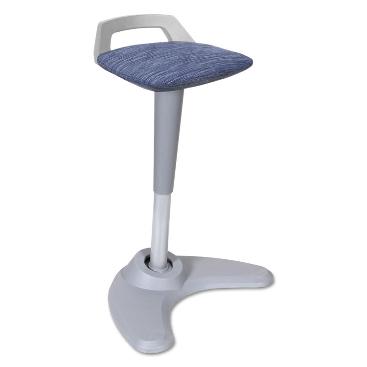 Adaptivergo Sit To Stand Perch Stool, Blue With Silver Base