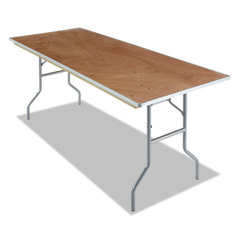 Banquet Folding Table, Rectangular, 30w X 72d, Natural