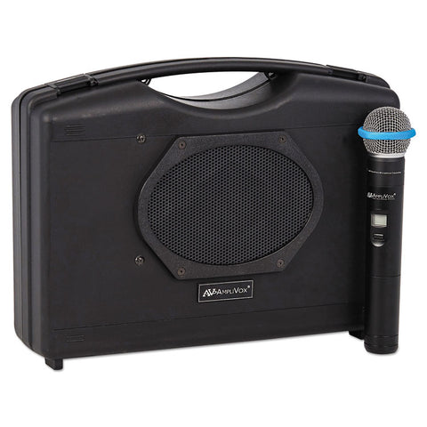 Bluetooth Audio Portable Buddy With Wireless Handheld Mic, 50w, Black