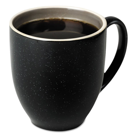 Bistro Mugs, 15 Oz, Charcoal, Ceramic