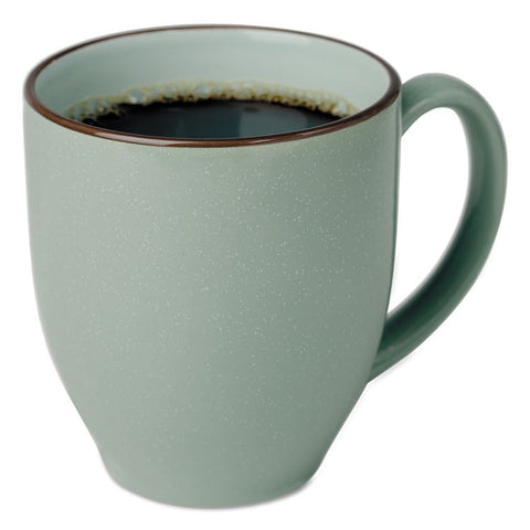 Bistro Mugs, 15 Oz, Sea Foam Green, Ceramic