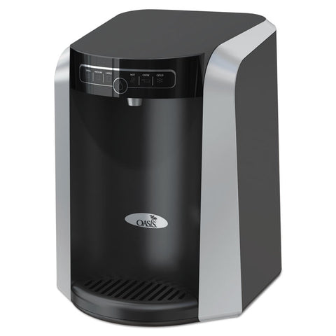 Aquarius Counter Top Hot N Cold Water Cooler, 13 1/4 Dia. X 17h, Black