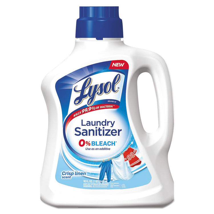 Laundry Sanitizer, Liquid, Crisp Linen, 90 Oz