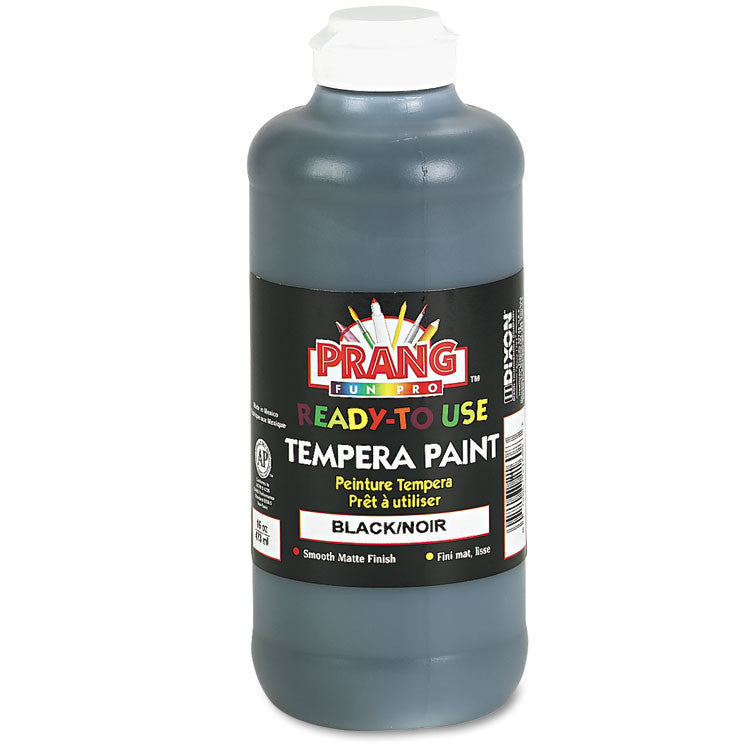 Ready-To-Use Tempera Paint, Black, 16 Oz