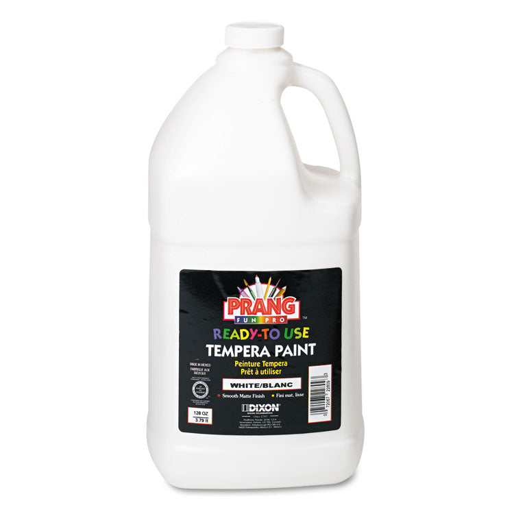 Ready-To-Use Tempera Paint, White, 1 Gal