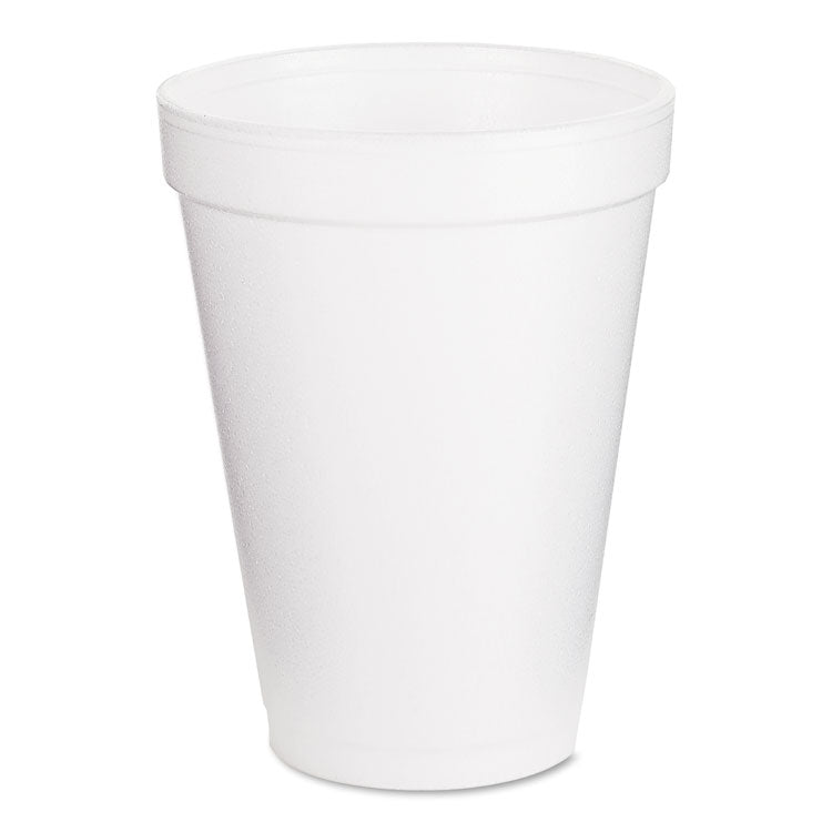 Foam Drink Cups, 12oz, White, 25/bag, 40 Bags/carton