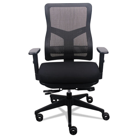 200 Mesh-Back Multifunction Chair, Black Fabric Seat/black Mesh Back