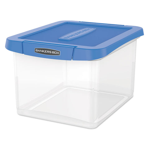 HEAVY DUTY FILE STORAGE, 14 X 17 3/8 X 10 1/2, LETTER/LEGAL, CLEAR/BLUE, 2/PK