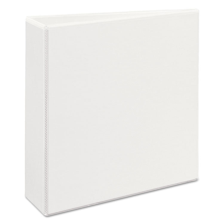 "Heavy-Duty View Binder W/locking 1-Touch Ezd Rings, 3"" Cap, White"