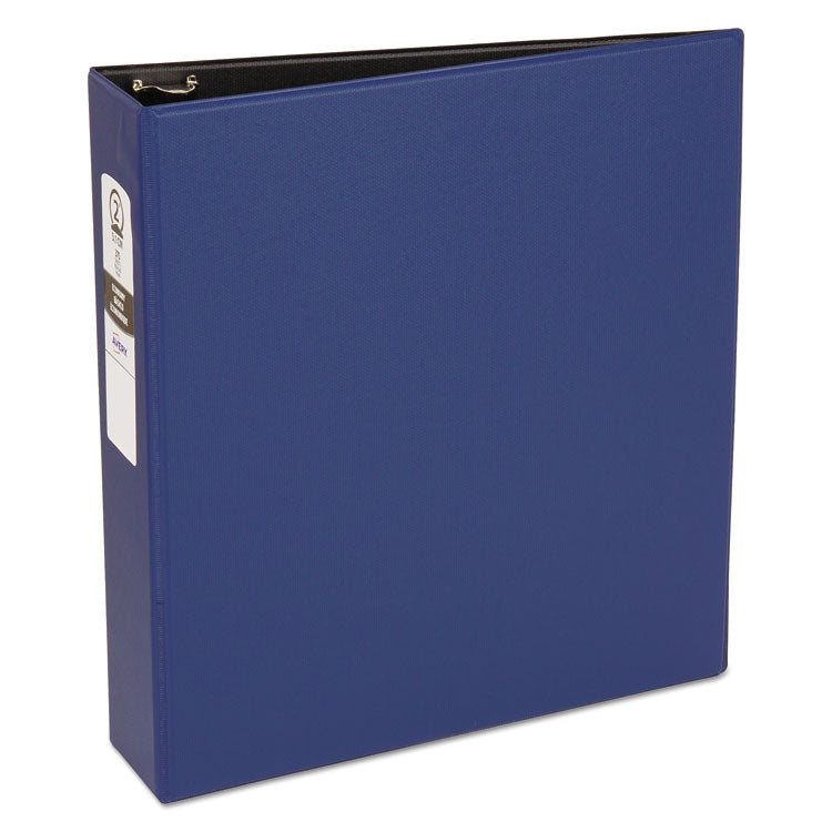 "Economy Non-View Binder With Round Rings, 11 X 8 1/2, 2"" Capacity, Blue"