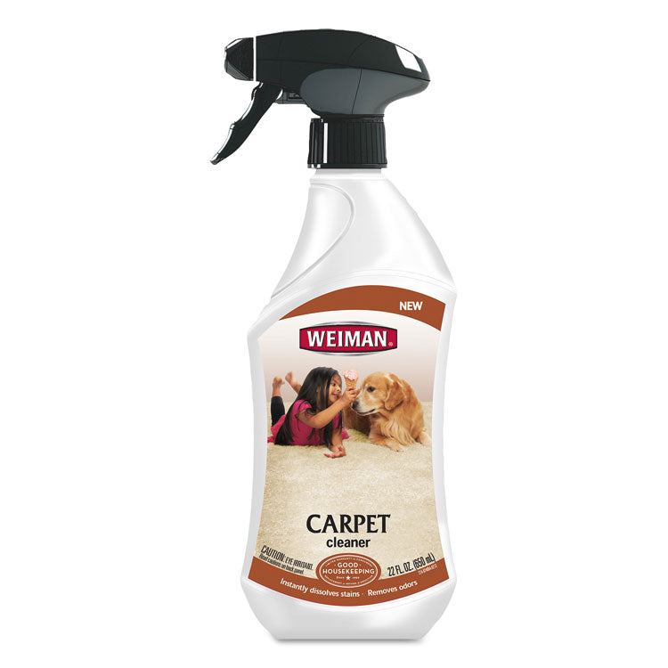 Carpet Cleaner, Liquid, 22 Oz Bottle, Lemon, 6/ct