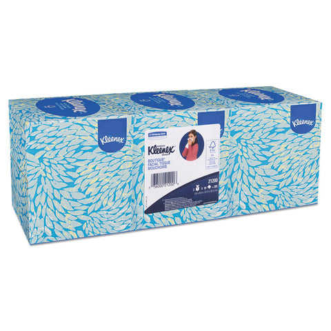 BOUTIQUE WHITE FACIAL TISSUE, 2-PLY, POP-UP BOX, 3 BOXES/PACK, 12 PACKS/CARTON