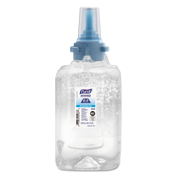 ADVANCED E3-RATED INSTANT HAND SANITIZER GEL, 1200 ML, REFILL, 3/CARTON