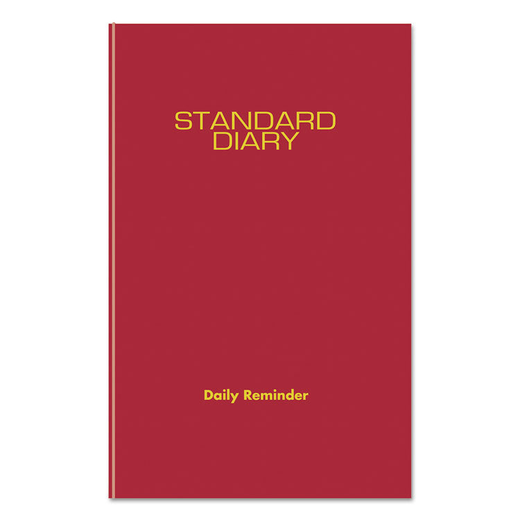 STANDARD DIARY RECYCLED DAILY REMINDER, RED, 5 3/4 X 8 1/4, 2019