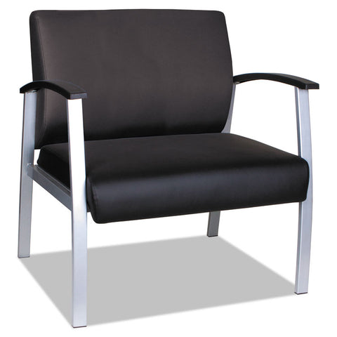 "ALERA METALOUNGE SERIES HIGH-BACK GUEST CHAIR, 27.55"" X 23.81"" X 17.71"", BLACK"
