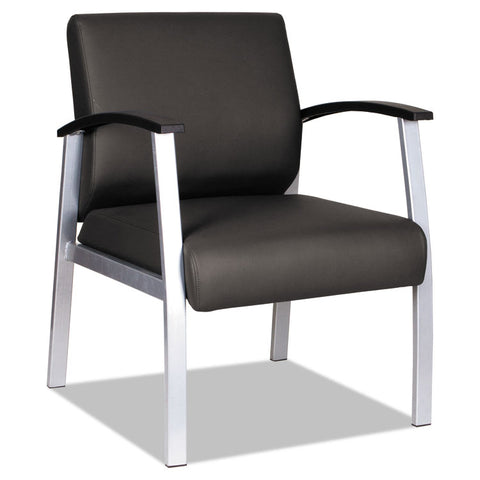 "ALERA METALOUNGE SERIES MID-BACK GUEST CHAIR, 21.85"" X 23.62"" X 17.71"", BLACK"