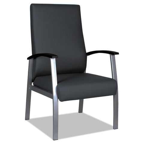 "ALERA METALOUNGE SERIES HIGH-BACK GUEST CHAIR, 21.85"" X 23.62"" X 17.71"", BLACK"