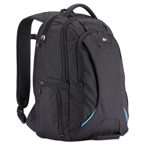 "15.6"" CHECKPOINT FRIENDLY BACKPACK, 2.76"" X 13.39"" X 19.69"", POLYESTER, BLACK"