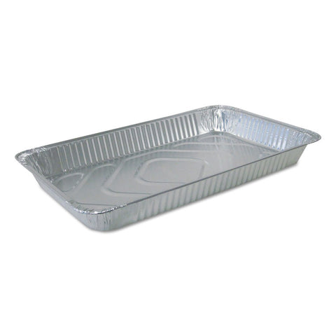 ALUMINUM STEAM TABLE PANS, 20 3/4W X 12 13/16D X 2 3/16H, SILVER, 50/CARTON