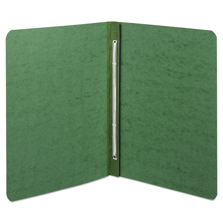 "Presstex Report Cover, Side Bound, Prong Clip, Letter, 3"" Cap, Dark Green"