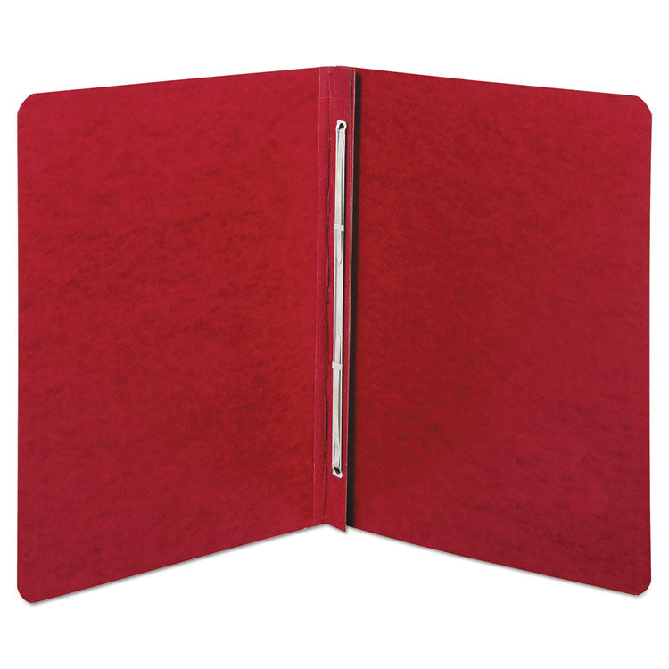 "Presstex Report Cover, Side Bound, Prong Clip, Letter, 3"" Cap, Executive Red"