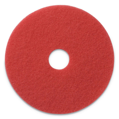 "BUFFING PADS, 17"" DIAMETER, RED, 5/CT"