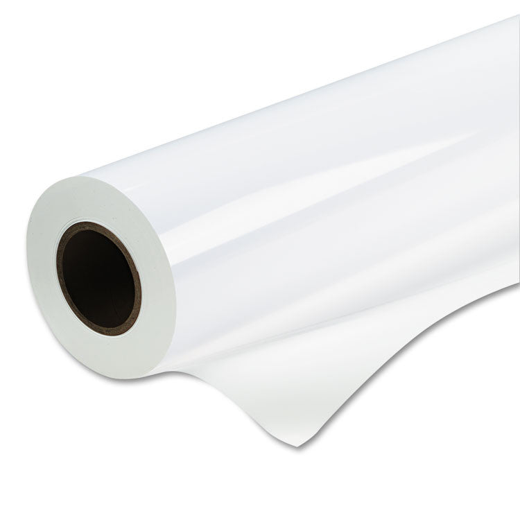 "Water-Resistant Removable Vinyl Paper, Matte, 6 Mil, 42"" X 60 Ft Roll, White"